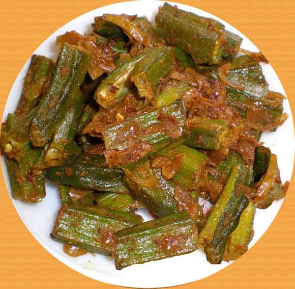 Tangy Stuffed Okra Vegetable