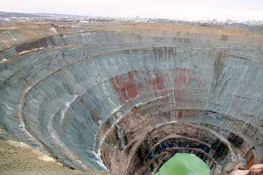 The Mir Mine - World's Largest Diamond Mine