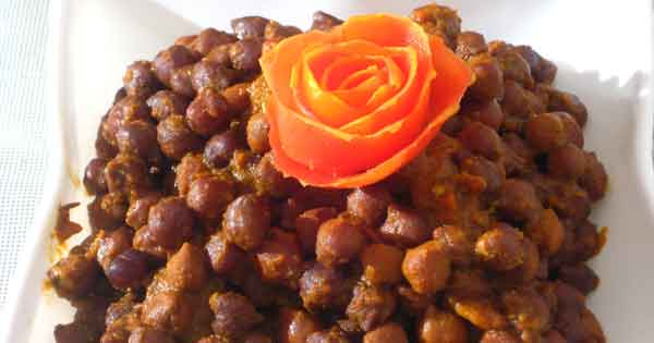 Vrat Recipes - Kala Chana Vegetable