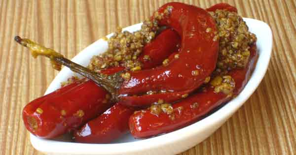 Red Chili Pepper Pickle Recipe By Sonia Goyal