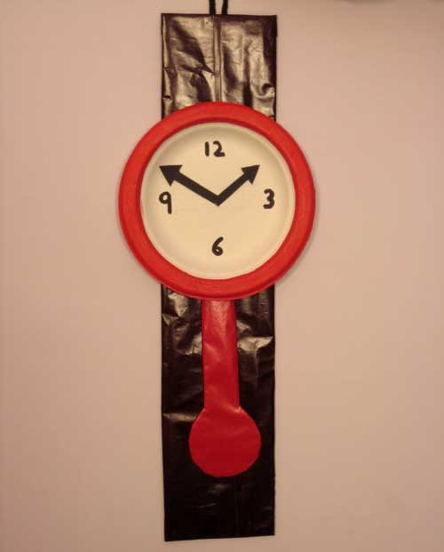 & Easy Craft Ideas For Kids : How To Make Wall Clock From Paper Plate