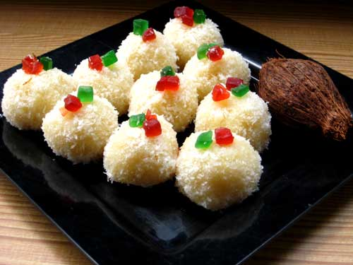 Coconut Ladoo Recipe - How To Make Coconut Ladoo At Home