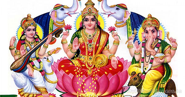 How to do Lakshmi Puja on Diwali - Easy Lakshmi Panchayatan puja