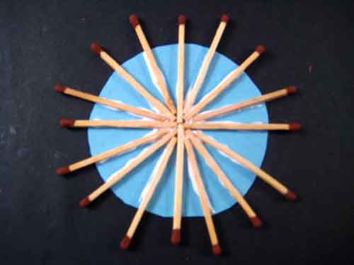 how to make art with matchsticks