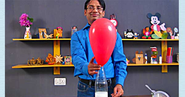 Balloon Inflation Magic - Science Projects For Kids
