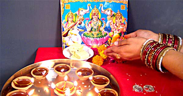 Image result for diwali puja