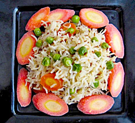 Carrot and Peas Pulao Recipe