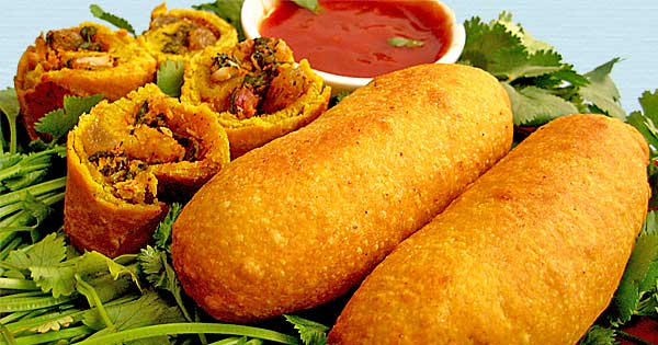 North Indian Veg Spring Roll Recipe