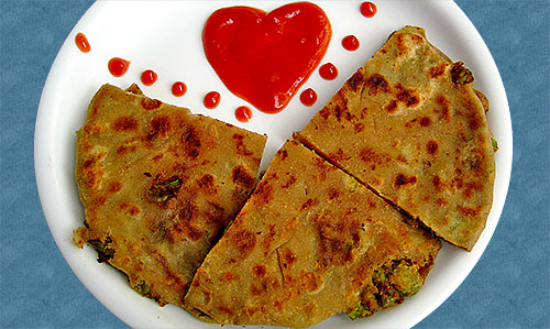 Crispy Green Peas Paratha Recipe