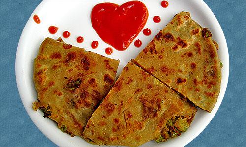 Crispy Green Peas Paratha Recipe