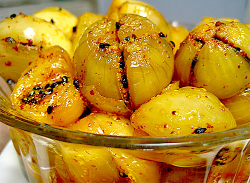 Onion Pickle Recipe from Rajasthani Cuisine