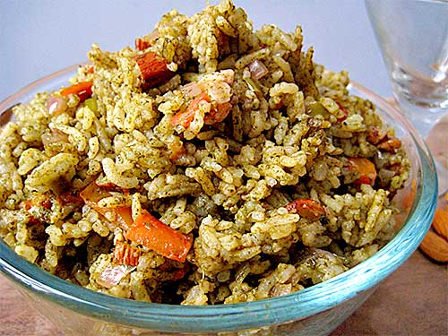 Nuts and Herbs Pulao Recipe