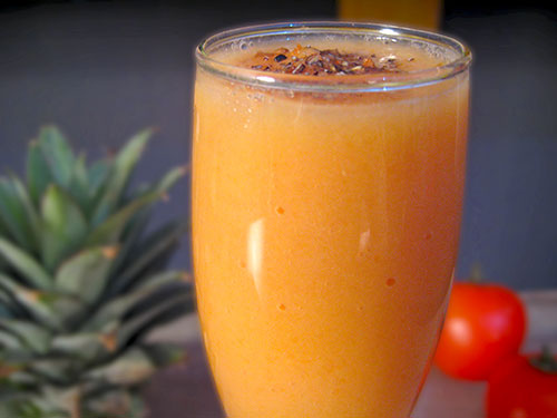 Papaya Pineapple Smoothie Recipe