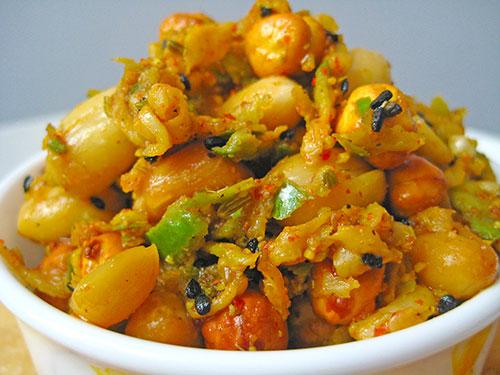 Chickpea Peanut Mango Pickle Recipe