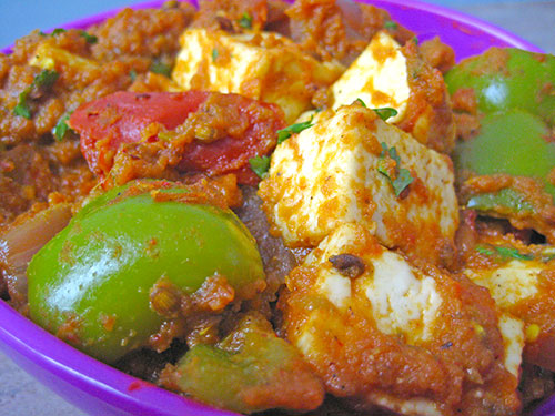 Kadai paneer recipe from indian cuisine with video by sameer goyal forumfinder Images