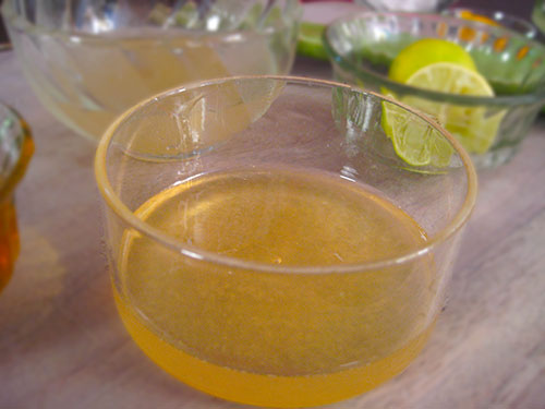 Combination of aloe vera juice, honey and lemon juice