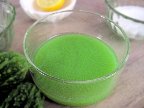 Combination of bittergourd juice, lemon juice and salt
