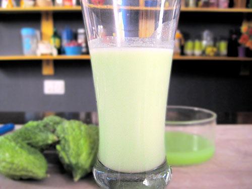 Combination of bittergourd juice and buttermilk