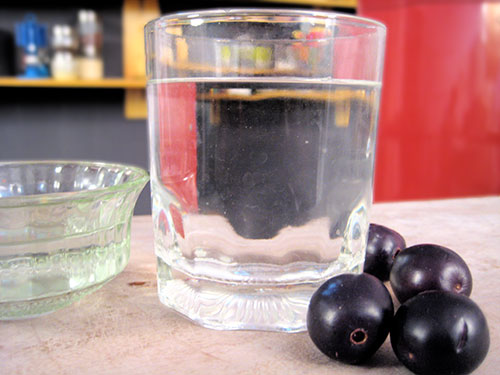 Combination of jamun vinegar and water