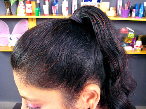 High Ponytail Hairstyle Step 3