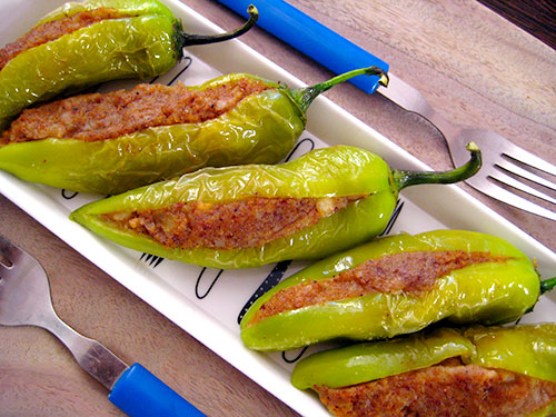Stuffed Chili Recipe From Indian Cuisine with Video