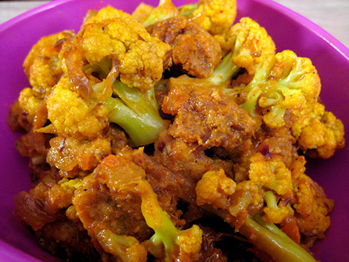 Cauliflower Recipe With Amritsari Vadi From Punjabi Cuisine