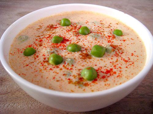 Peas Raita Recipe - A Nutritious Dish From Indian Cuisine